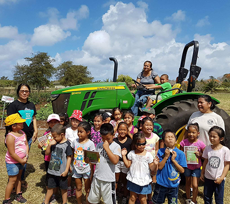 Agriculture Field Trip at Tinian CREES Station